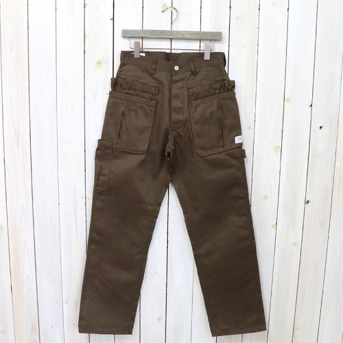 SASSAFRAS『WHOLE HOLE PANTS(T/C CHINO)』(BROWN)
