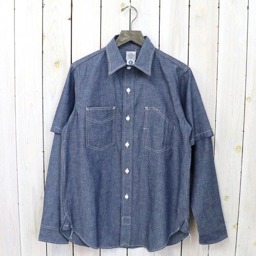 【SALE特価50%off】POST O'ALLS『1102 shirt-R +Half』(indigo 3)