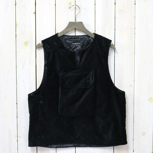 ENGINEERED GARMENTS『Cover Vest-Cotton Velveteen』(Black)