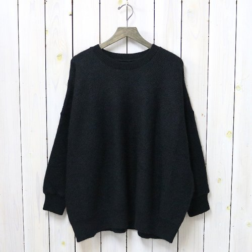 『Mohair Big Sweater-Plain』(Black)