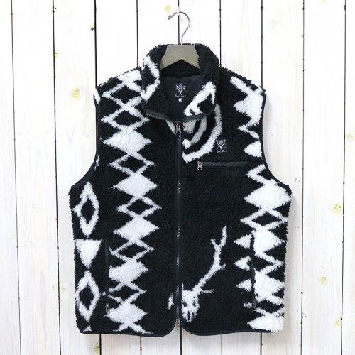 『Piping Vest-Poly Jacquard Pile/S2W8 Native Pattern』