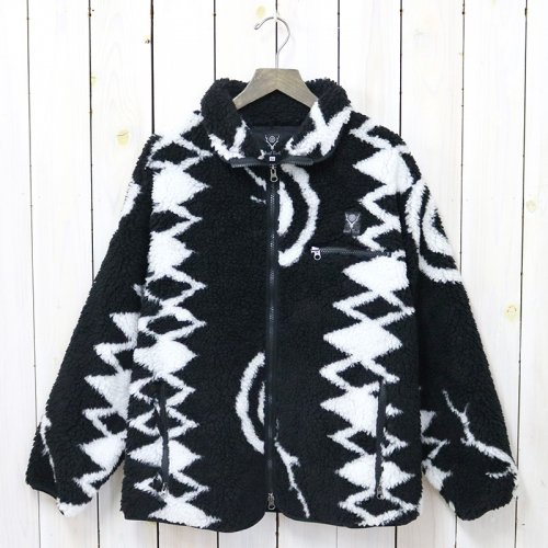 SOUTH2 WEST8『Piping Jacket-Poly Jacquard Pile/S2W8 Native Pattern』