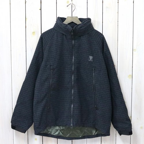 SOUTH2 WEST8『Weather Effect Jacket-Poly Gunclub Plaid』(Navy)