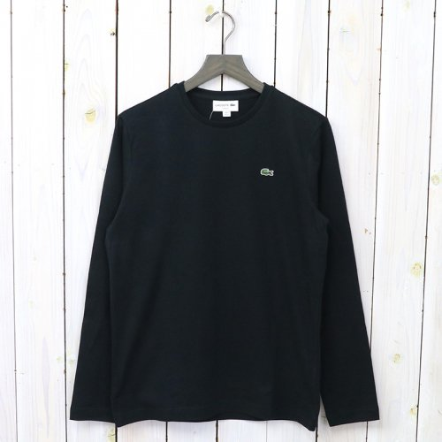 LACOSTE『ロングスリーブTシャツ(長袖)』(ブラック)