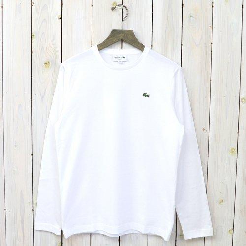 LACOSTE『ロングスリーブTシャツ(長袖)』(ホワイト)