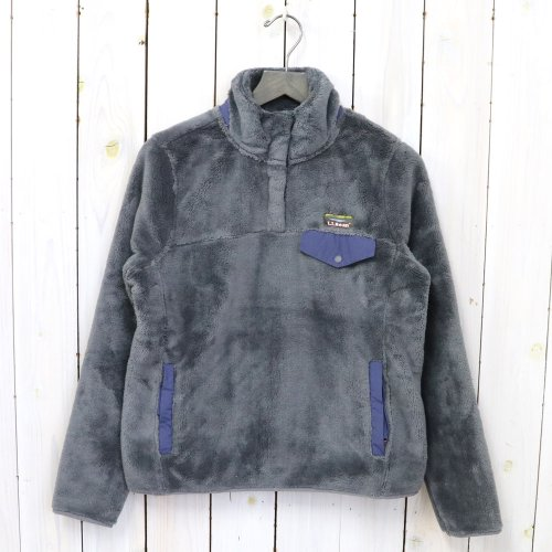 L.L.Bean『Hi-Pile Fleece Pullover』(Platinum/Raw Indigo)