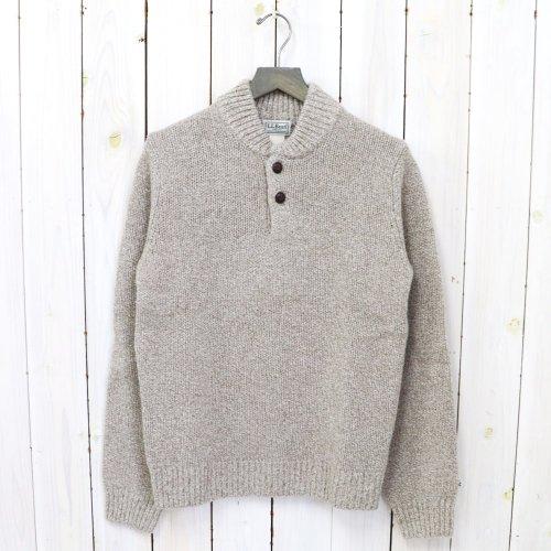 L.L.Bean『Classic Ragg Wool Henley Sweater』(Natural)