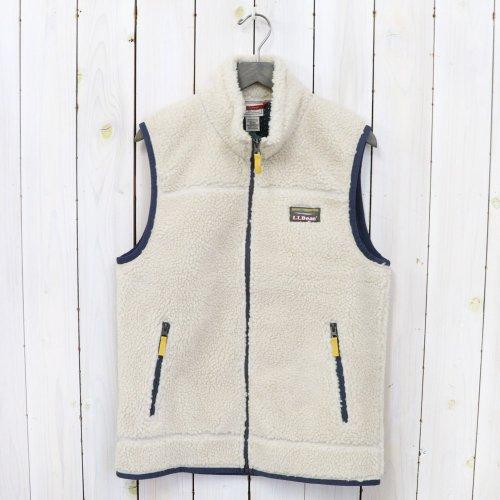 L.L.Bean『Mountain Pile Fleece Vest』(Natural)