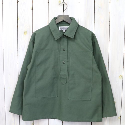 ENGINEERED GARMENTS WORKADAY『Army Shirt-Reversed Sateen』(Olive)