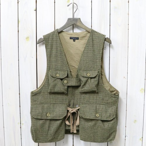 ENGINEERED GARMENTS『Game Vest-Gunclub Check』(Tan/Green)
