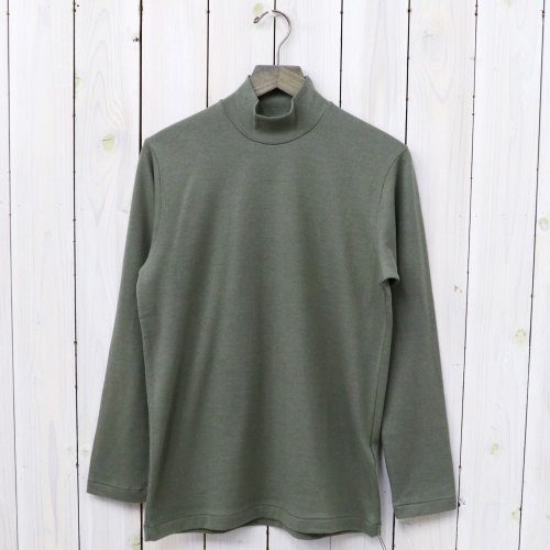 【SALE特価30%off】ANATOMICA『MOCK NECK TEE L/S』(Green)