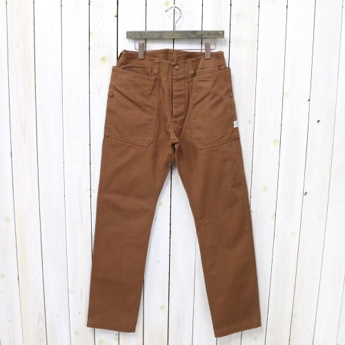 SASSAFRAS『FALL LEAF FRAME PANTS(DUCK)』(BROWN)