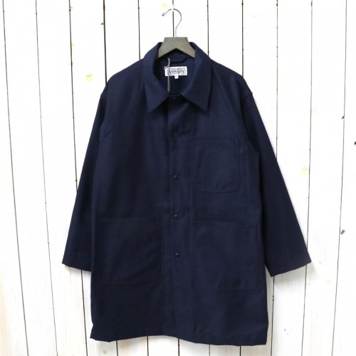 ENGINEERED GARMENTS WORKADAY『Shop Coat-Reversed Sateen』(Dk.Navy)