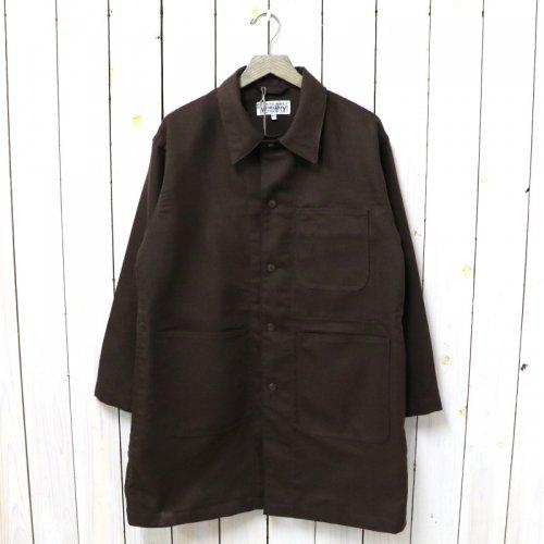 ENGINEERED GARMENTS WORKADAY『Shop Coat-Acrylic Wool Serge』(Brown)