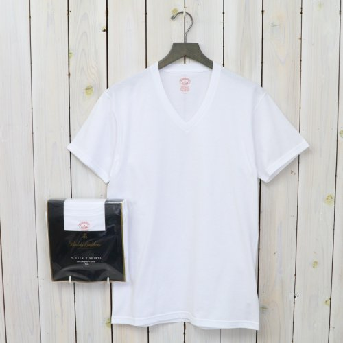 Brooks Brothers『スーピマコットン 3パック VネックTシャツ Traditional Fit』(Solid White)