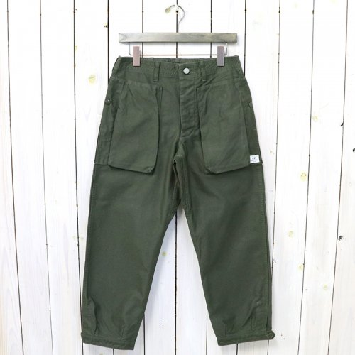 SASSAFRAS『DIGS CREW PANTS 4/5(BACK SATIN)』(OLIVE)