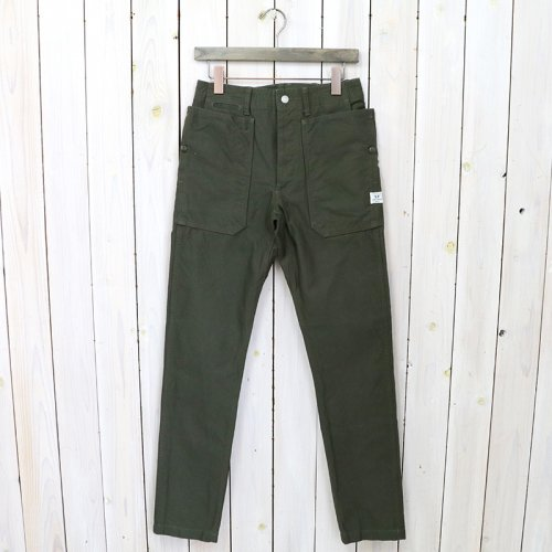 SASSAFRAS『FALL LEAF SPRAYER PANTS(BACK SATIN)』(OLIVE)