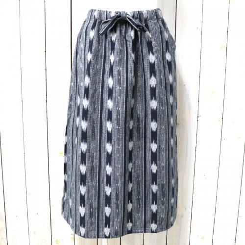 【会員様限定SALE】SOUTH2 WEST8『String Skirt-Cotton Cloth/Ikat Pattern』(Black)