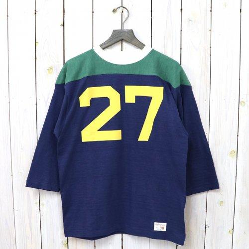 WAREHOUSE『Lot 4076 7分袖フットボールT No.27(クレイジーパターン)』