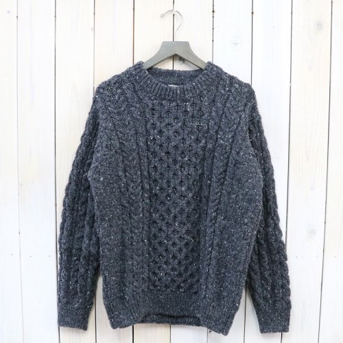 L.L.Bean『Irish Fisherman's Sweater Crewneck』(Charcoal Gray Donegal)