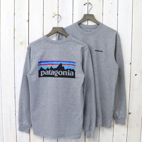 patagonia『M's Logo-Sleeved P-6 Logo Responsibili-Tee』(Gravel Heather)