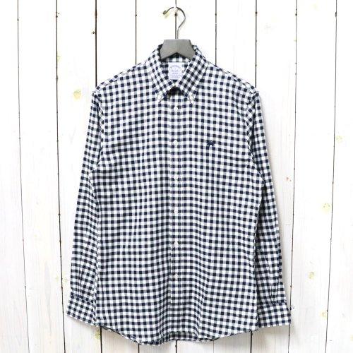 Brooks Brothers『GF コットン ブラッシュドオックスフォード ギンガムチェック スポーツシャツ-Regent Fit』(Navy)