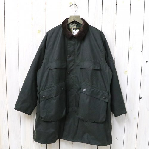 Kaptain Sunshine『Stand Collar Traveller Coat Made by Barbour』(SAGE GREEN)