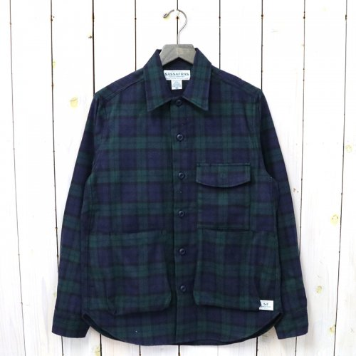 SASSAFRAS『DIGS CREW HALF(TARTAN CHECK)』(BLACK WATCH)