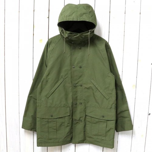 SASSAFRAS『BLOWER BUD COAT(MICROTTY OXFORD)』(OLIVE)