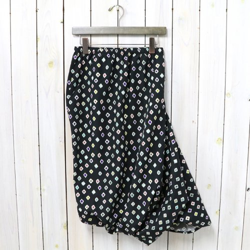 Needles『Conti Skirt-Nylon Tussore/Print』(Black)
