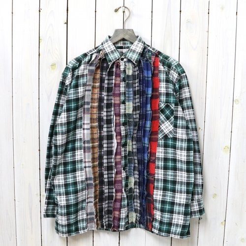 Rebuild by Needles『Flannel Shirt->Ribbon Shirt』(Assorted)