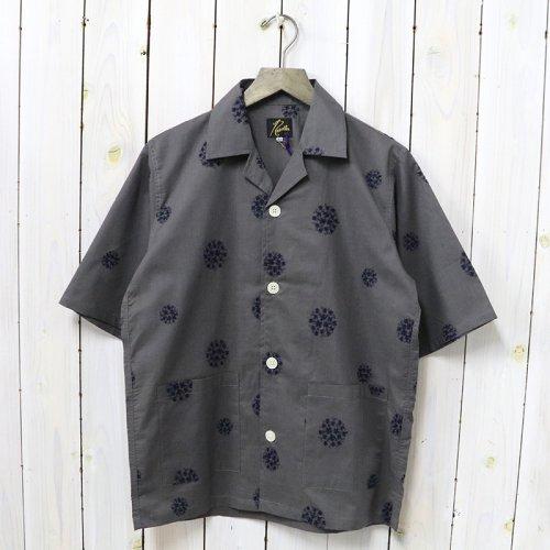 Needles『Cabana Shirt-Cotton Cloth/Flower Dot Emb.』(Grey)