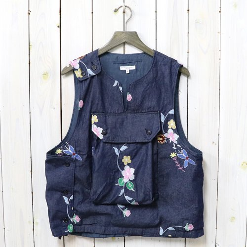 ENGINEERED GARMENTS『Cover Vest-Denim Floral Embroidery』