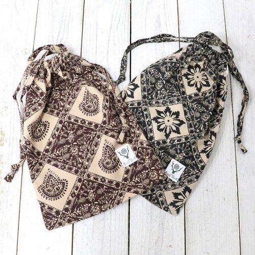 SOUTH2 WEST8『String Bag-Printed Flannel/Batik』