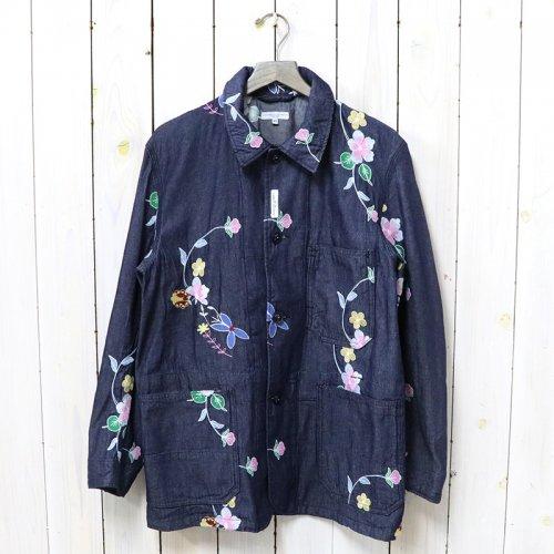 ENGINEERED GARMENTS『Work Jacket-Denim Floral Embroidery』