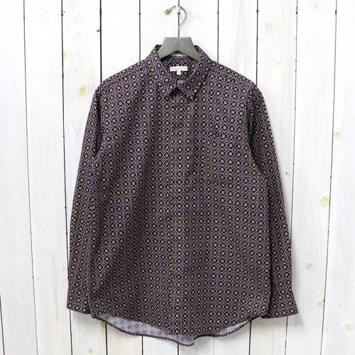 ENGINEERED GARMENTS『Short Collar Shirt-Floral Foulard Print』(Navy)