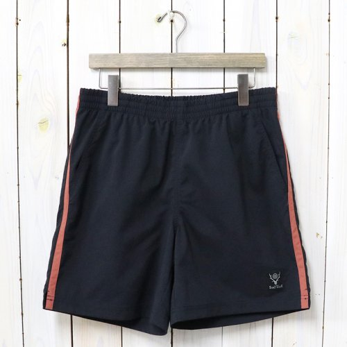 SOUTH2 WEST8『Side Line Trail Short-N/Pu Elastic Taffeta』(Black)