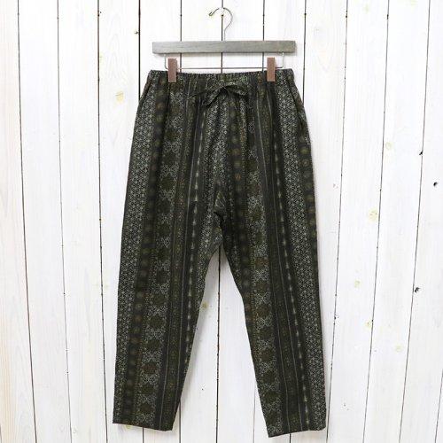 SOUTH2 WEST8『String Slack Pant-C/L Cloth/Arabesque』(Black)
