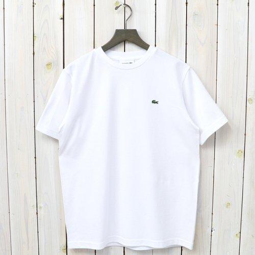 LACOSTE『鹿の子クルーネックTシャツ(半袖)』(ホワイト)