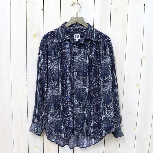 AiE『Painter Shirt-Abstract Print Rayon Lawn』(Indigo)