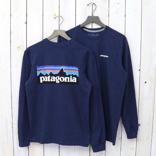 patagonia『M's Logo-Sleeved P-6 Logo Responsibili-Tee』(Classic Navy)