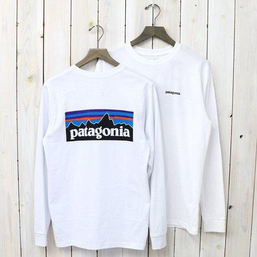 patagonia『M's Logo-Sleeved P-6 Logo Responsibili-Tee』(White)