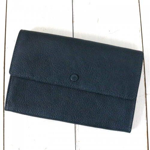 hobo『Shrink Leather Long Wallet』(Navy)