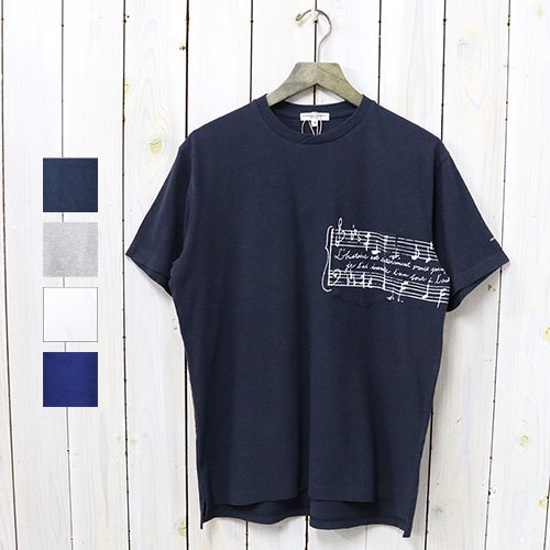 ENGINEERED GARMENTS『Printed Cross Crew Neck T-shirt-Music』