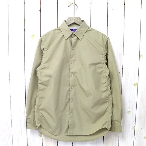 THE NORTH FACE PURPLE LABEL『Typewriter L/S Shirt』(Khaki)