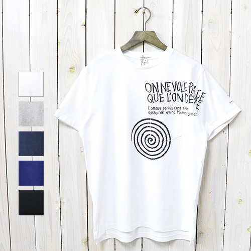 【SALE特価60%off】ENGINEERED GARMENTS『Printed Cross Crew Neck T-shirt-Spiral』