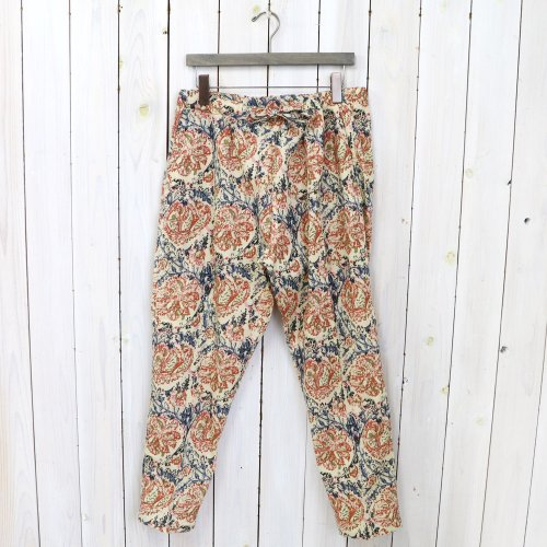 SOUTH2 WEST8『String Slack Pant-Printed Flannel/Paisley』(Beige)