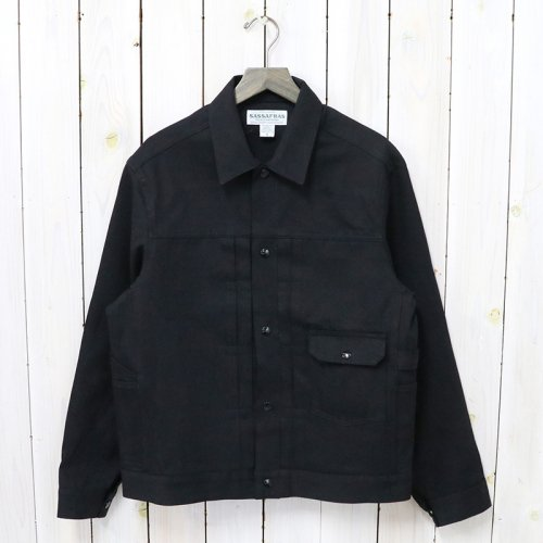 SASSAFRAS『GARDENER JACKET(10oz DENIM)』(BLACK)