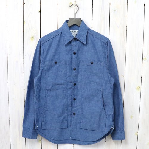 SASSAFRAS『FEEL SUN HALF(5oz CHAMBRAY)』(BLUE)