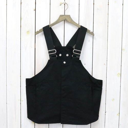 hobo『Cotton Twill Vest by LAND & B.C.』(Black)